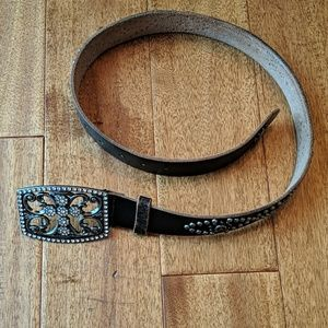 Guess studded leather belt size S